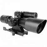 AIM Tactical 5 - 10 x 40 Scope with Green Laser
