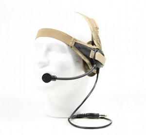 Bravo Airsoft Headset Style 02 with PTT for Motorola Talkabout - Dark Earth