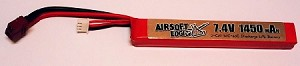 Airsoft Logic 7.4V Stick Style LiPo Battery 1450 mAH 20C DEANS