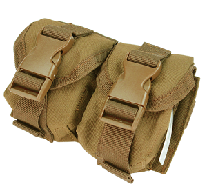 Condor Outdoor Double Frag Grenade Pouch - Tan