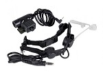 Bravo Airsoft Throat Mic in Black with PTT for 1 Pin Motorola