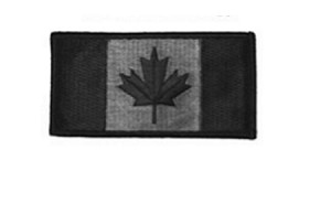 Black Canada 2 x 1 inch patch - Velcro