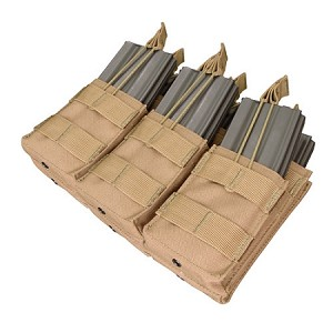 Condor Triple Stacker M4 Mag Pouch - Tan