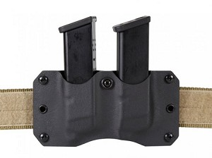 SpetzGear Kydex Belt Dual Magazine Pouch for Glock 17 Magazines
