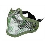 Tactical Crusader Strike Steel Half FaceMask JUNGLE CAMO