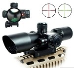 2.5 - 10 x 40 Scope with Red/Green Reticle and Red Laser