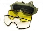 Taktikal Airsoft Goggle - Dual Pane Thermal Lens - OD