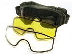Taktikal Airsoft Goggle - Dual Pane Thermal Lens - Black