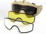 Taktikal Airsoft Goggle - Dual Pane Thermal Lens - Tan